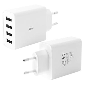 Chargeur mural KSIX 4 USB 4.5A Blanc