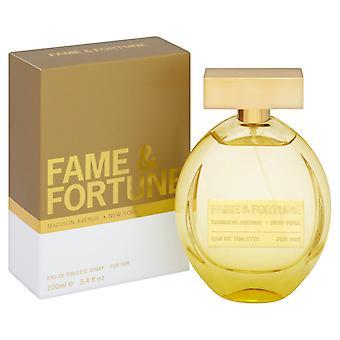 Fame & amp; Fortune naisille Eau de Toilette 100ml EDT spray