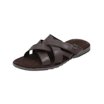 Base London APOLLO Men's Sandals Brown Flip-Flops Summer Shoes