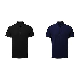 Asquith & Fox Herren Zip Polo Shirt