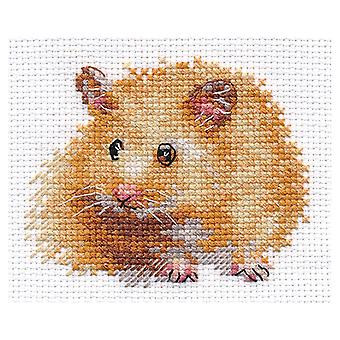 Alisa Cross Stitch Kit - Hamster