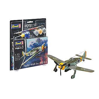 Revell 63898 1:72 Focke Wulf Fw190 F-8 Kit modèle en plastique