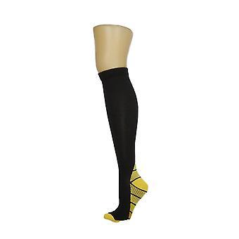 North Style Women's High Stripe Detail Black Socks