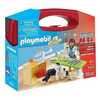 Playset City Life Vet Visit Carry Set Playmobil 5653 (39 pcs)