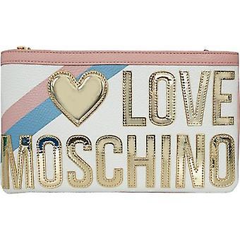 Love Moschino Accessories Oversized Logo Clutch Bag