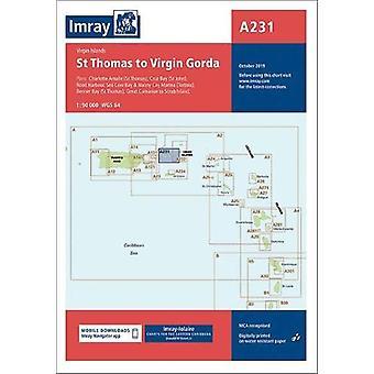Imray Chart A231 - Virgin Islands St Thomas to Virgin Gorda - 2019 by I