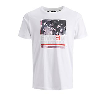 Jack & Jones Men's Flag Tee T-Shirt