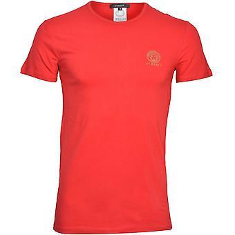 Versace Iconic Crew-Neck T-Shirt, Czerwony