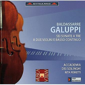 B. Galuppi - Baldassarre Galuppi: Sei Sonate a Tre a Due Violini E Basso Continuo [CD] USA import