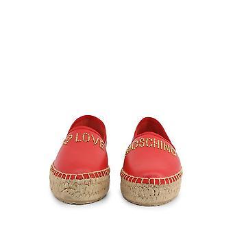Love Moschino - Buty - Pantofel - JA10393G0AJA_0500 - Damy - czerwony,biały - EU 37