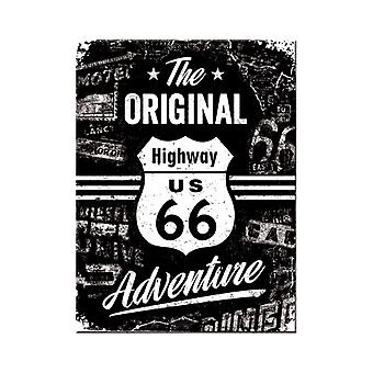 US Highway 66 Nostalgic Metal Magnet - Cracker Filler Gift