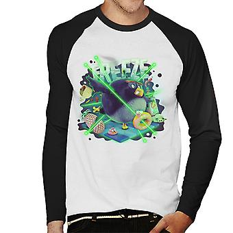 Angry Birds Freeze Men-apos;s Baseball Long Sleeved T-Shirt