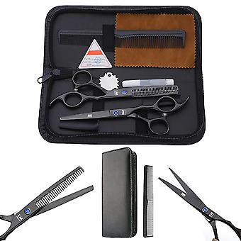 6 Inch Professional Barber Salon Hair Cutting Thinning Scissors Set
