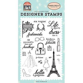 Carta Bella Fashionista Duidelijke Postzegels