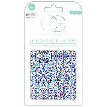 Craft Consortium turkiska bad Decoupage Papers