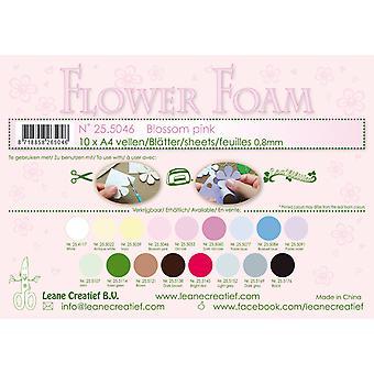ליאן קראטילף קצף פרח גיליונות A4 פרח ורוד