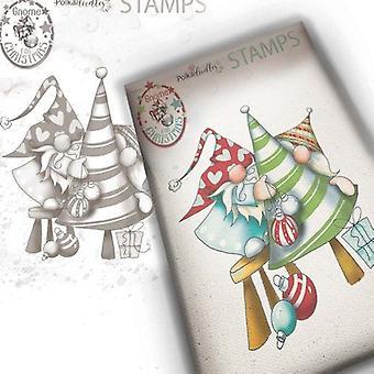 Polkadoodles Clear Stamps - Gnome Decorando el árbol