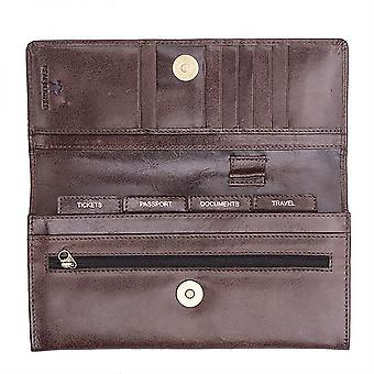 Primehide Leather Travel Wallet Document Holder ID Planner Purse 1400