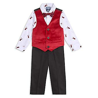 IZOD Baby Boys 4-Piece Set with Dress Shirt, Pants, Bow Tie, and Vest, Reinde...