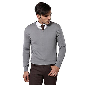 V neck grey sweater