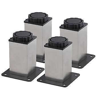 0.8x6.3CM Square Furniture Table Sofa Feet Set of 4