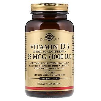 Solgar, Vitamin D3 (Cholecalciferol), 25 mcg (1,000 IE), 250 Softgels