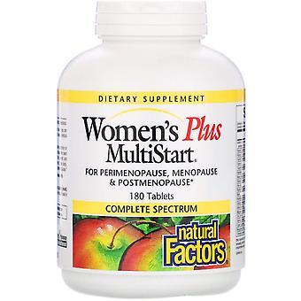 Natürliche Faktoren, Frauen's Plus MultiStart, 180 Tabletten