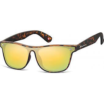 Sunglasses Unisex Wanderer Flamed Brown/Yellow (MS47)