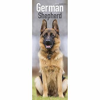 Otter House 2021 Slim Calendar- German Shepherd