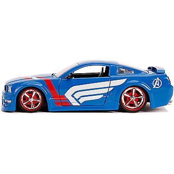 Cap America 2006 Ford Mustang GT 1:24 Schaal Hollywood Ride