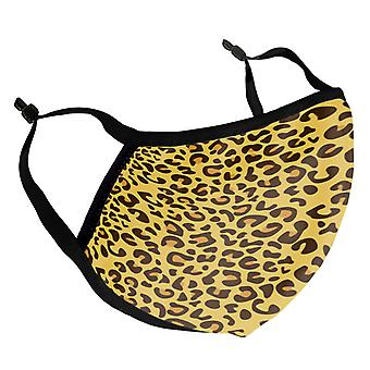 Leopard Skin Pattern Adult Reusable Fabric Face Mask