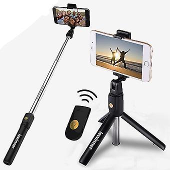 3 i 1 trådløs Bluetooth Selfie Stick Mini stativ uttrekkbar Monopod Universal for smarttelefon