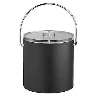 Contempo Black 3Qt. Ice Bucket With Thick Lucite, Bale Handle, No Trim
