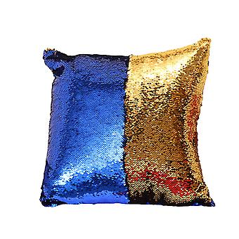 YANGFAN Double Color Glitter Sequins Throw Pillow Case