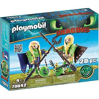 Playmobil - Dragons Ruffnut och Tuffnut med Flight Suit (DreamWorks) Playset
