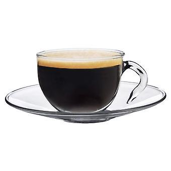 Clear Glass Espresso Cup & Underkop - 60ml (2.1oz) - Pakke med 1