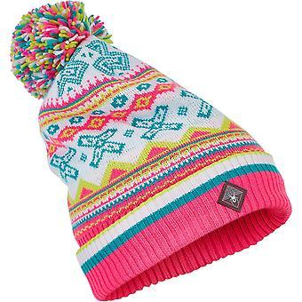 Spyder BELLA Women's Knit Bommel Winter Ski Hat pink