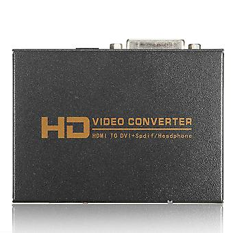 1080P Full HD HD til DVI SPDIF hovedtelefon Audio Video Converter 5.1 CH 2.0 CH