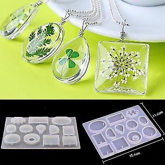 Silicone Casting Molds Necklace Pendant Resin- Uv Epoxy For Jewelry