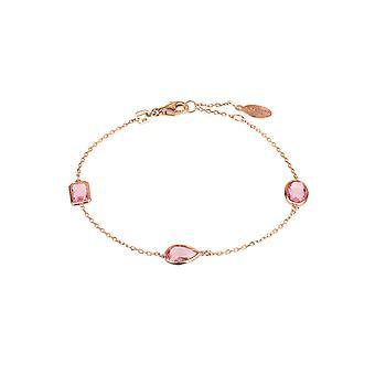 Venezia armbånd Rosegold Pink Tourmaline