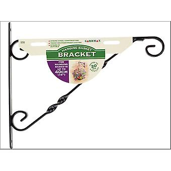 Gardman Hanging Basket Bracket Black 14-16in 03025