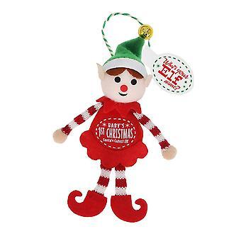 History & Heraldry Elf Decoration - Babys 1st Christmas
