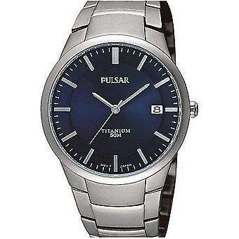 Pulsar معصم الساعة الرجال التيتانيوم PS9011X1