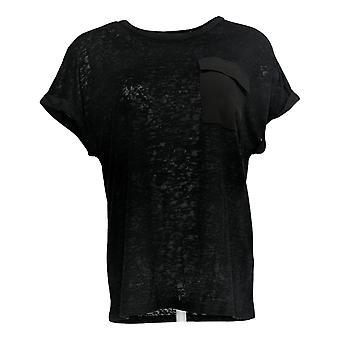 DG2 par Diane Gilman Women-apos;s Top Black Tunique Pocket Sleeveless 723-680