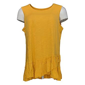 DG2 por Diane Gilman Women's Top Sunflower Yellow Tank Cotton 725-087