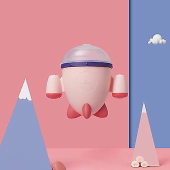 Spill-proof Silicone Baby Food Storage & Feeding Rocket Shape Box