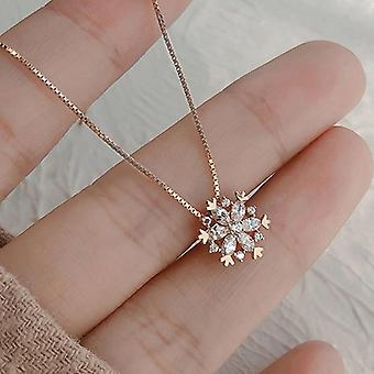 Sterling Silver Luxury Zircon Necklace