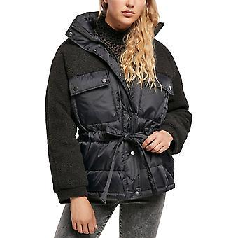 Urban Classics Naiset - Sherpa Buffer Jacket Musta