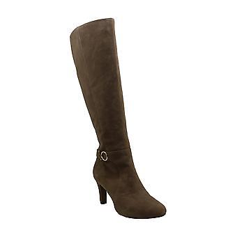 باندولينو النساء BDLELLA واسعة النسيج مغلقة تو الركبة أحذية الأزياء عالية