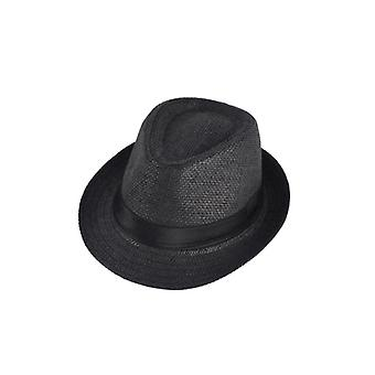 Summer Kids Straw Hat, Outdoor Panama Baby Jazz Cap